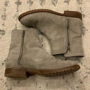 Frye Natalie Double ZIP Boot - Grey Sz 8